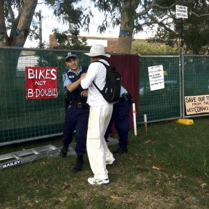 Baird's new protest laws used against WestCONnex protesters